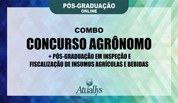 Combo para Concurso Agrônomo + Inspeção e Fiscalização de Insumos Agrícolas e Bebidas- Pós Graduação Online
