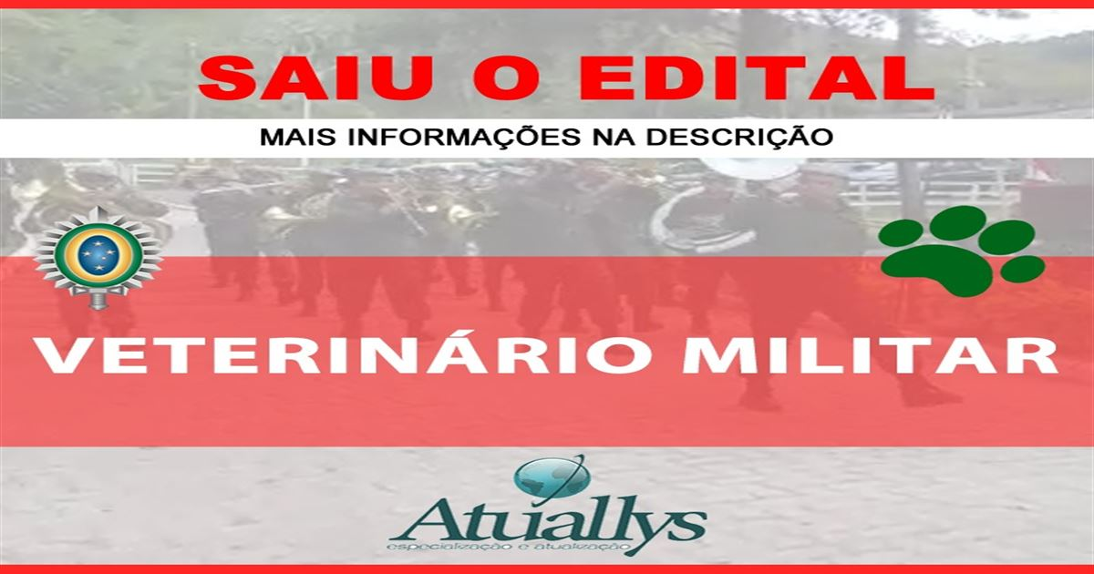 Publicado Edital do Exército para Médico Veterinário